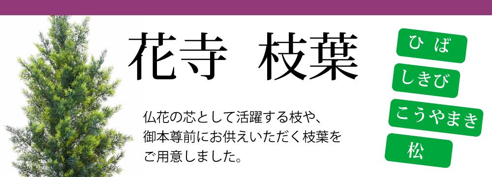花寺,造花,ひば,しきび,松